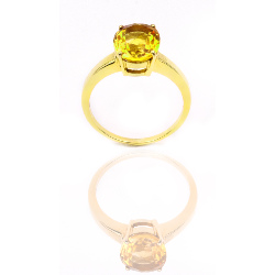Bague or 375 jaune - Citrine