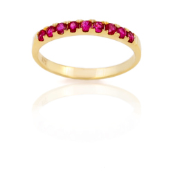 Bague or 375 jaune - Rubis