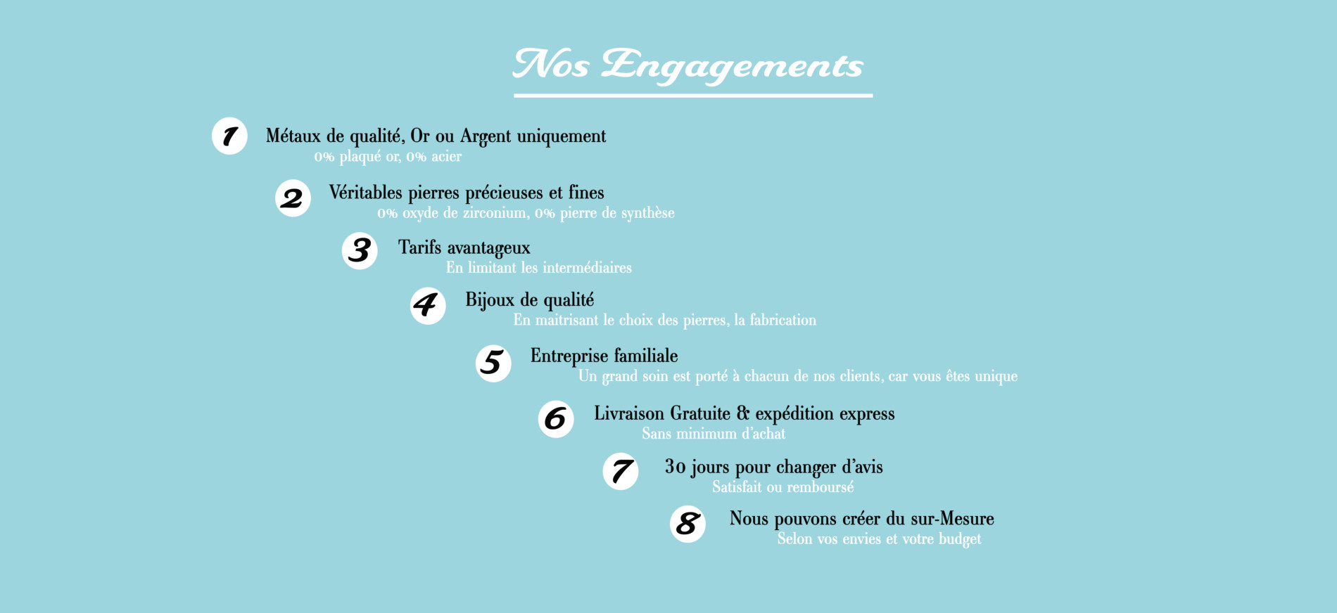 Nos engagements de qualité